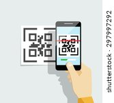 capture qr code on mobile phone.... | Shutterstock .eps vector #297997292