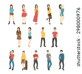 businessman and woman   eps10... | Shutterstock .eps vector #298000976