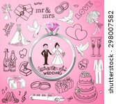 hand drawn collection of... | Shutterstock . vector #298007582