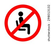 vector no sitting sign and...