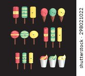 vector set of different and... | Shutterstock .eps vector #298021022