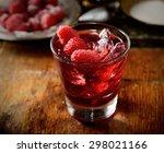 juice of fresh raspberries...   Shutterstock . vector #298021166