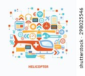 helicopter concept design on... | Shutterstock .eps vector #298025546