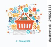 e commerce concept design on... | Shutterstock .eps vector #298025555
