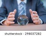 businessman forecasting a... | Shutterstock . vector #298037282