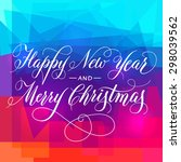 "lettering ""happy new year and... 