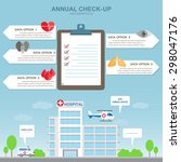 hospital building infographic... | Shutterstock .eps vector #298047176