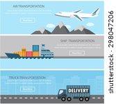 shipment and cargo infographics ... | Shutterstock .eps vector #298047206