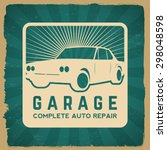 car repair service label on... | Shutterstock .eps vector #298048598