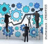 business team writing against...   Shutterstock . vector #298049555