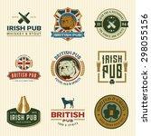 vector set of irish and british ... | Shutterstock .eps vector #298055156