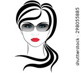 fashionable girl | Shutterstock .eps vector #298055885
