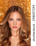 beauty portrait of a fashion... | Shutterstock . vector #298057295