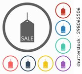 sale tag icon | Shutterstock .eps vector #298062506