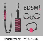 vector illustration of kinky... | Shutterstock .eps vector #298078682