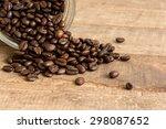 Coffee Beans In Glass Bottle