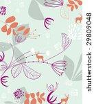 nature with reindeer pattern | Shutterstock .eps vector #29809048