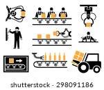 manufacturing process or... | Shutterstock .eps vector #298091186