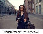 young beautiful pretty girl... | Shutterstock . vector #298099562