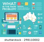set infographics in flat style. ... | Shutterstock .eps vector #298110002
