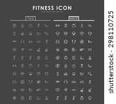fitness bold and thin line icons | Shutterstock .eps vector #298110725