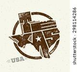 texas state creative vector... | Shutterstock .eps vector #298114286