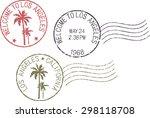 set of postal grunge stamps ... | Shutterstock .eps vector #298118708