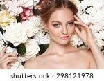 portrait of a beautiful fashion ... | Shutterstock . vector #298121978