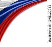 Russia Flag Of Silk With...