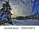 Hdr Image Of Winter Snow Scene...