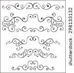 set of vector decorative... | Shutterstock .eps vector #298133132