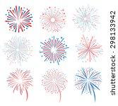 fireworks vector illustration... | Shutterstock .eps vector #298133942