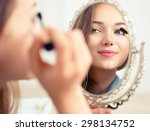 beauty model teenage girl... | Shutterstock . vector #298134752