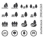 park icon set   Shutterstock .eps vector #298141265
