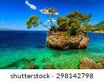 stunning landscape with rocky... | Shutterstock . vector #298142798