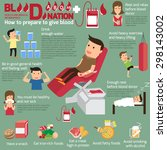 blood donor or donation... | Shutterstock .eps vector #298143002