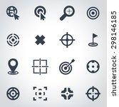 vector black target icon set. | Shutterstock .eps vector #298146185