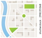 a city map showing roads and... | Shutterstock .eps vector #298155368