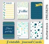 set of vintage creative cards... | Shutterstock .eps vector #298158296