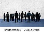 corporate business team... | Shutterstock . vector #298158986