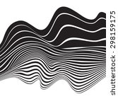 black and white mobious wave...   Shutterstock .eps vector #298159175