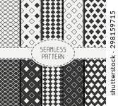 set of geometric monochrome... | Shutterstock .eps vector #298159715