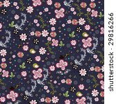 cool retro flora wallpaper... | Shutterstock .eps vector #29816266