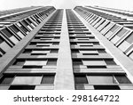 abstract art. modern building.... | Shutterstock . vector #298164722