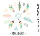 a set of tribal design elements ... | Shutterstock .eps vector #298171442