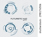 set of sci fi futuristic user... | Shutterstock .eps vector #298176506