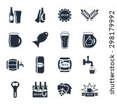 beer  icon set   bottle  glass  ... | Shutterstock . vector #298179992
