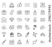 wedding icon set | Shutterstock . vector #298179995