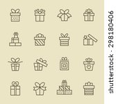 gift icon set | Shutterstock .eps vector #298180406