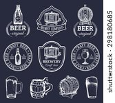 old brewery logos set. kraft... | Shutterstock .eps vector #298180685